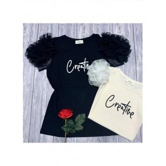 "T-shirt ""creative"" e tulle..."